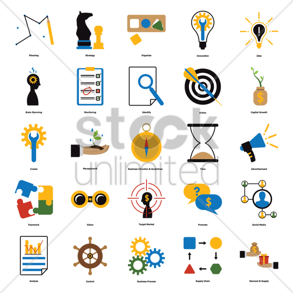 Free collection of business icons vector graphic
