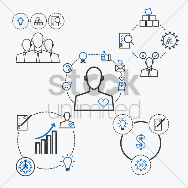 Free collection of business strategy concept vector graphic