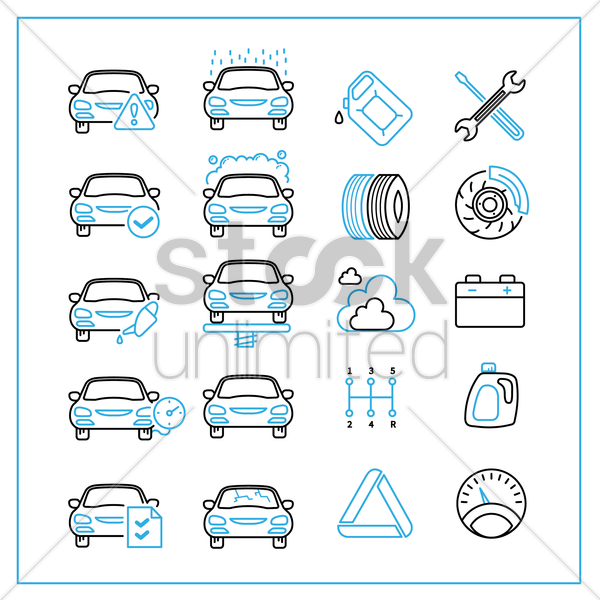 Free collection of car repair service icons vector graphic