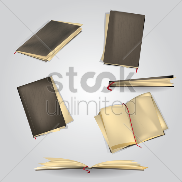 collection of diaries vector graphic