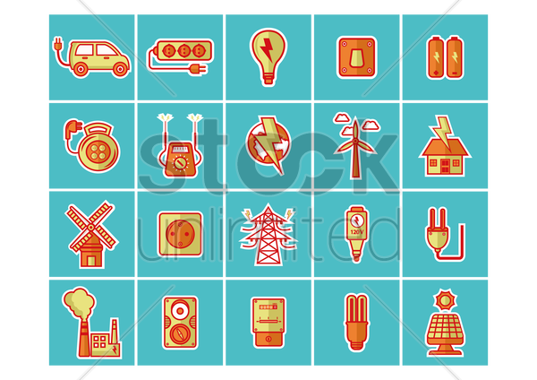 Free collection of electrical equipments vector graphic