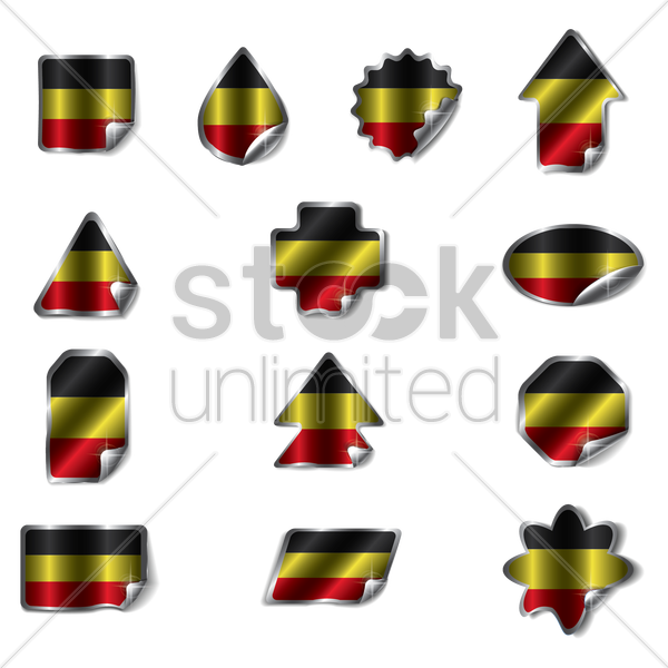 collection of germany stickers vector graphic