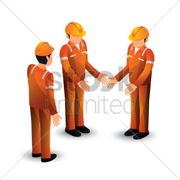 collection of isometric construction workers vector graphic