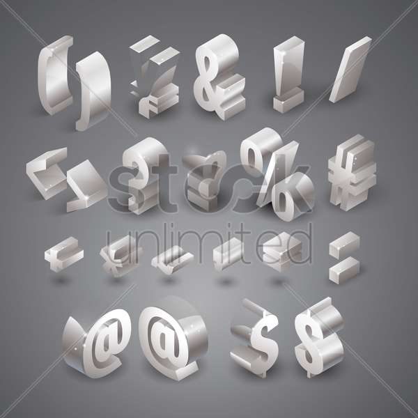 collection of keyboard symbols vector graphic