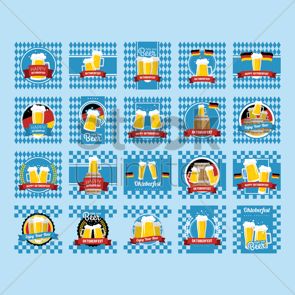 Free collection of oktoberfest festival design vector graphic