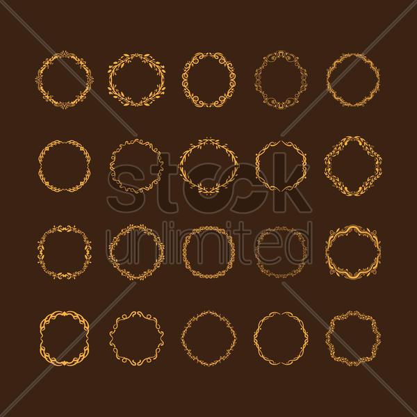 collection of ornamental frames vector graphic