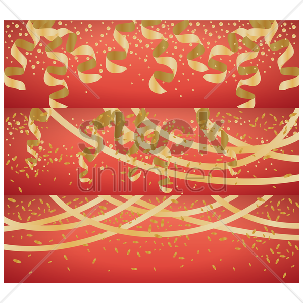 collection of party banners vector graphic