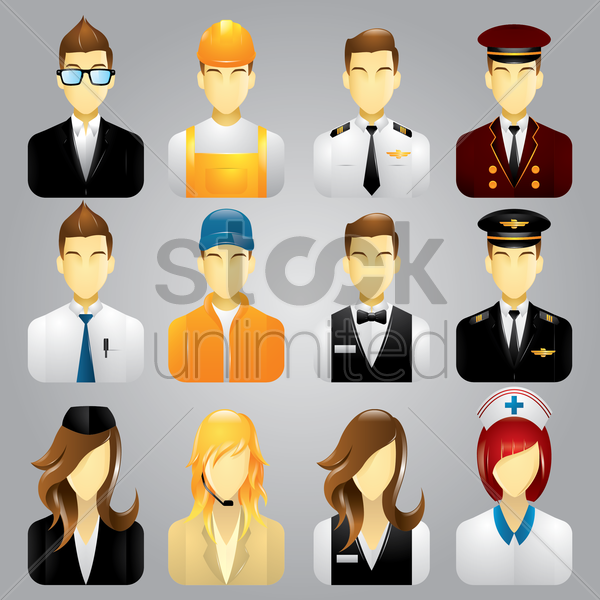 Free collection of people and occupation vector graphic