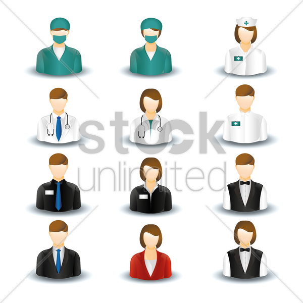 Free collection of people and occupations vector graphic