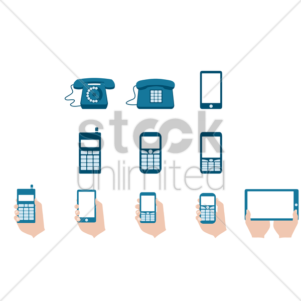 collection of phone icon vector graphic