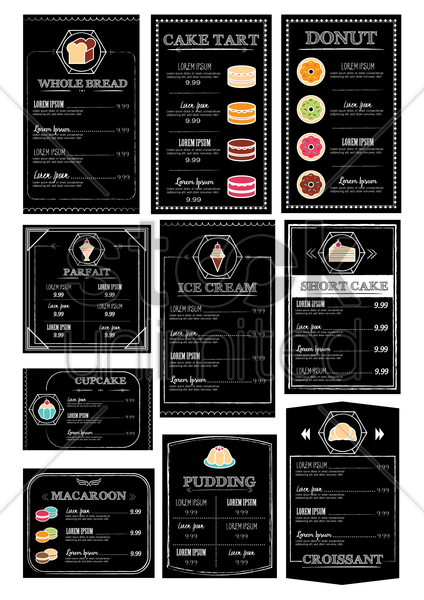 collection of restaurant menu design vector graphic