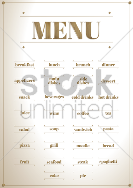 collection of restaurant menu icons vector graphic