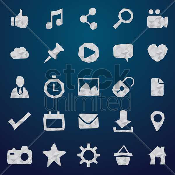 Free collection of social media icons vector graphic