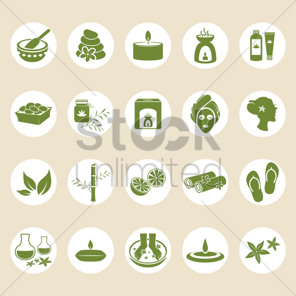 Free collection of spa icons vector graphic