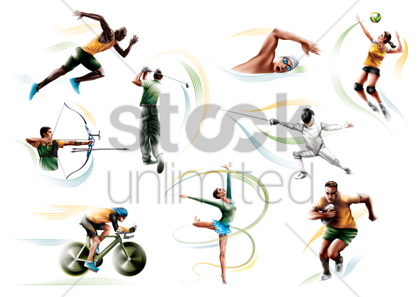 collection of sport activities vector graphic