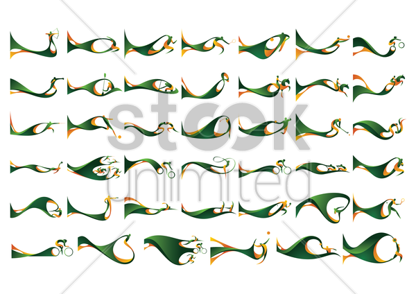 collection of sports competition vector graphic