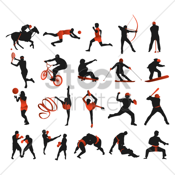 Free collection of sports players vector graphic