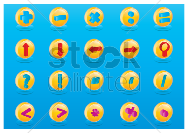 collection of symbols vector graphic