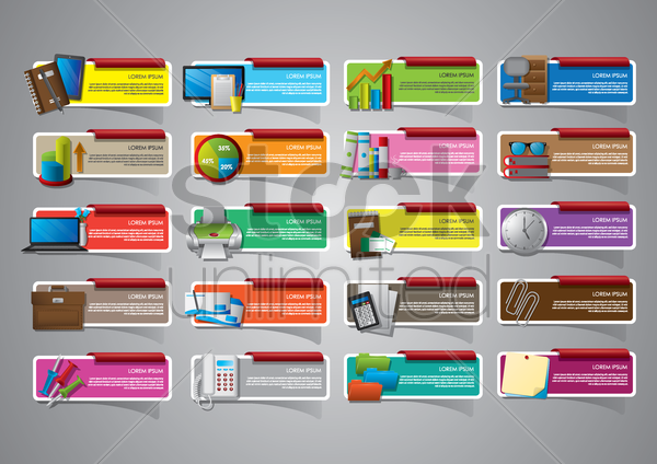 collection of template designs vector graphic