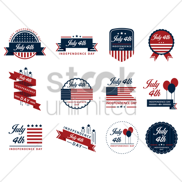 Free collection of usa independence day icons vector graphic