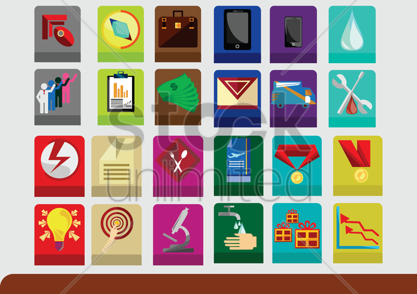 collection of various things vector graphic