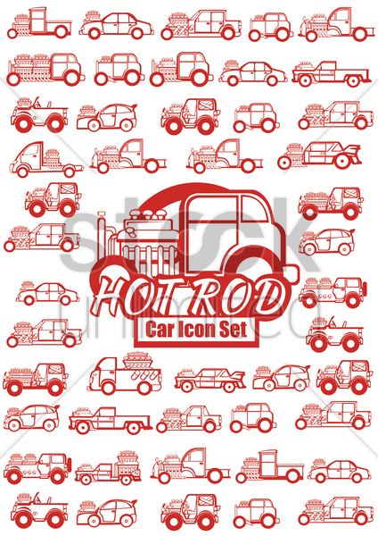 Free collection of vehicles vector graphic