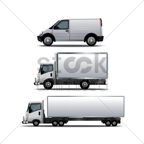 collection of vehicles vector graphic