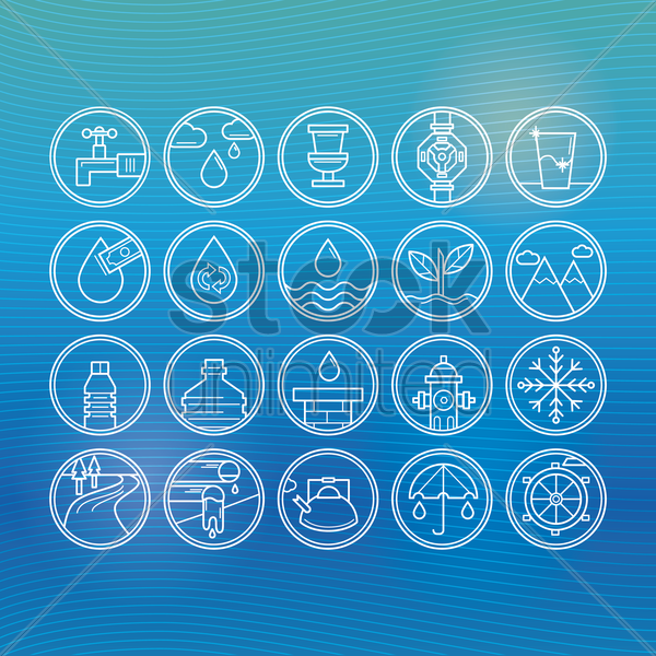 Free collection of water icons vector graphic