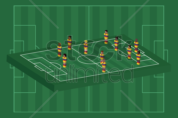 colombia team formation vector graphic