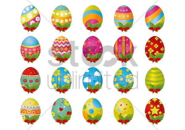 colorful easter egg vector graphic