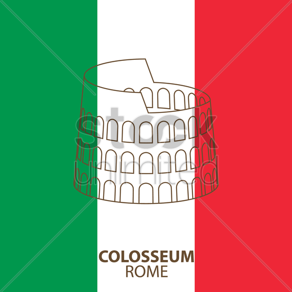 colosseum vector graphic