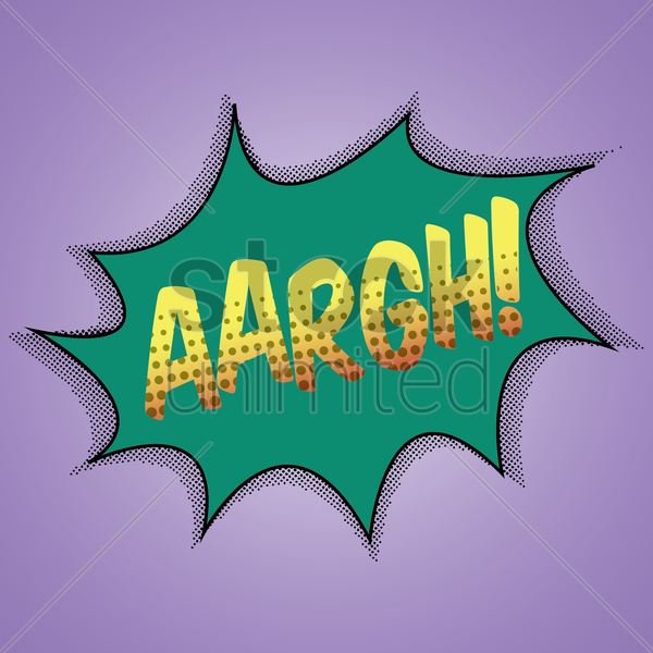 comic bubble aargh vector graphic