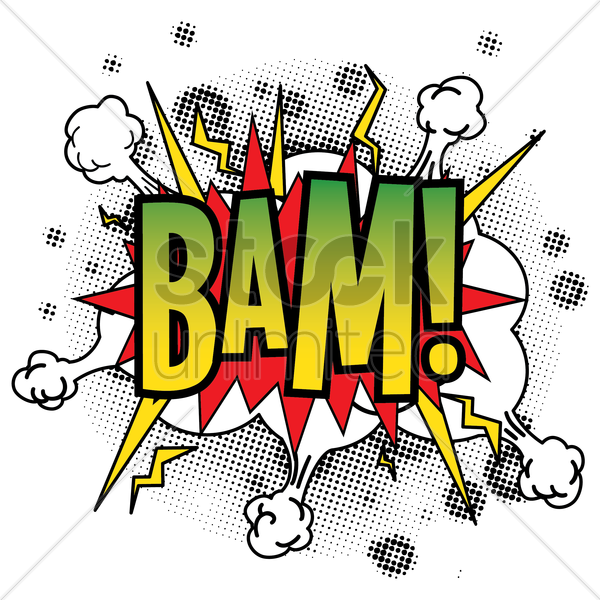 comic bubble bam vector graphic