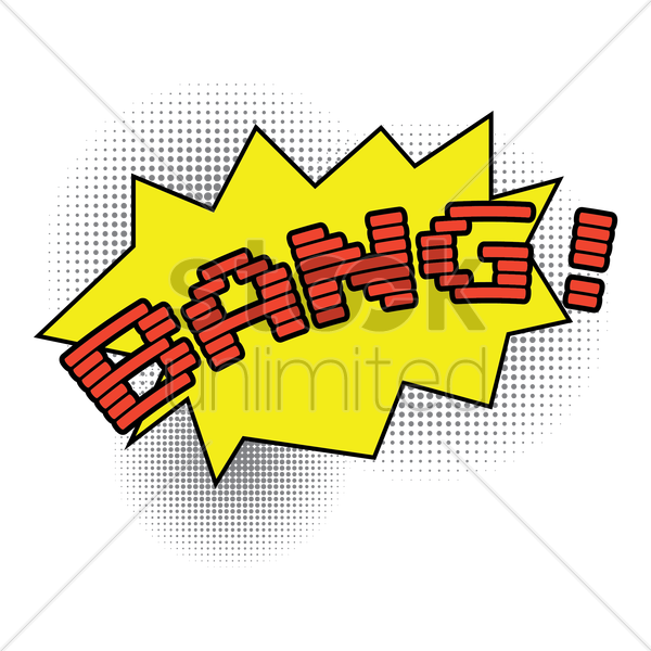 comic bubble bang vector graphic
