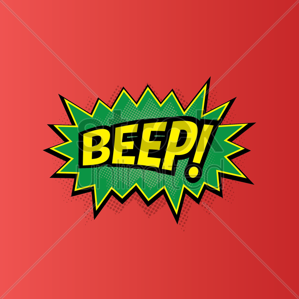 comic bubble beep vector graphic