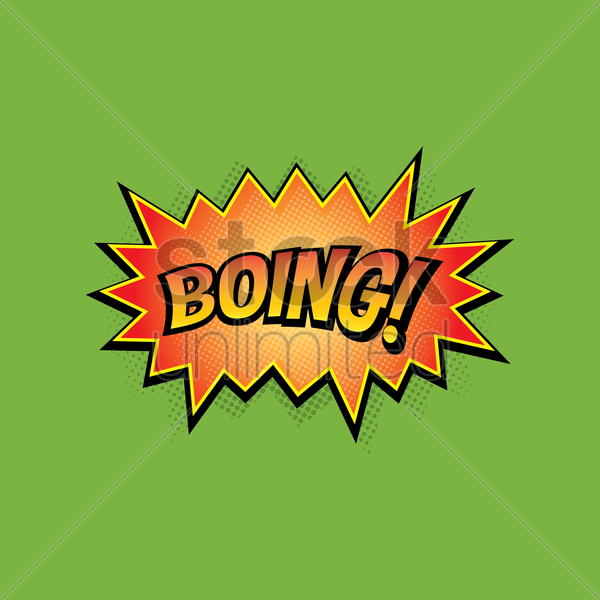 comic bubble boing vector graphic