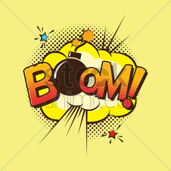 comic bubble boom vector graphic