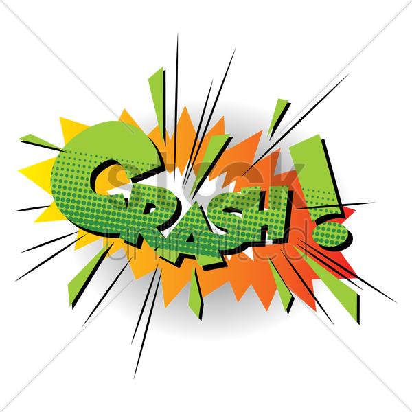 comic bubble crash vector graphic