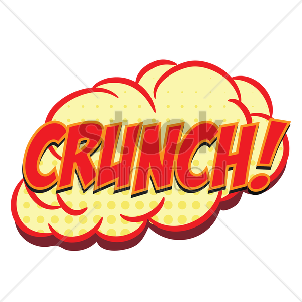 comic bubble crunch vector graphic