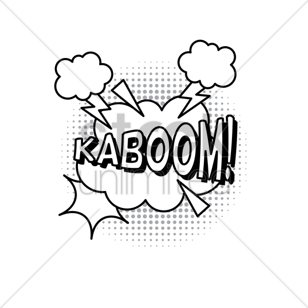 comic bubble effect kaboom vector graphic