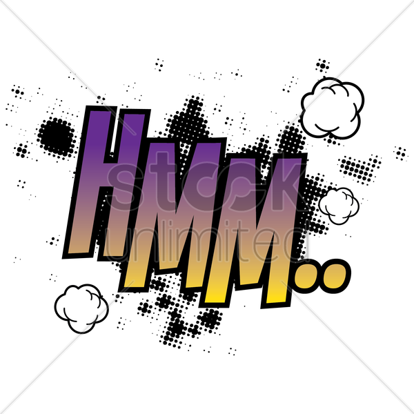 comic bubble hmm vector graphic