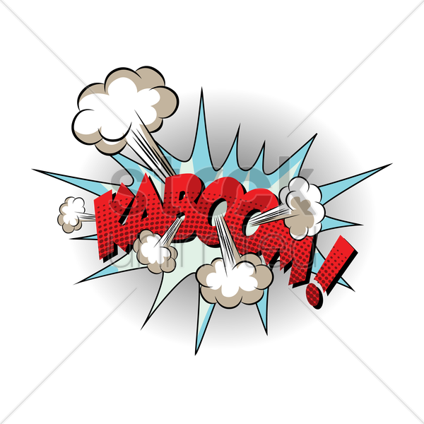 comic bubble kaboom vector graphic