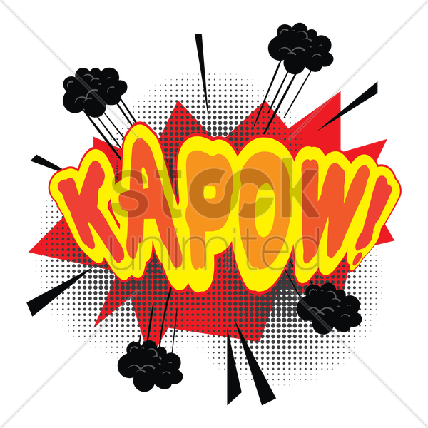 comic bubble kapow vector graphic