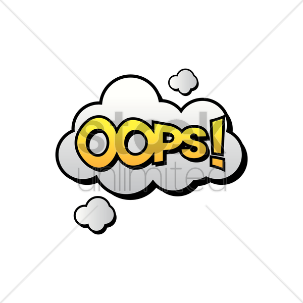 comic bubble oops vector graphic