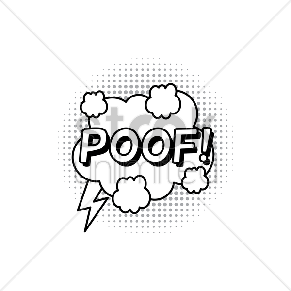 comic bubble poof vector graphic