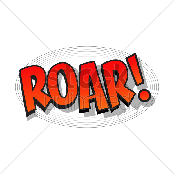 comic bubble roar vector graphic
