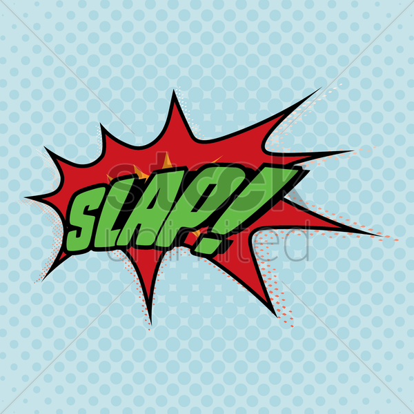 comic bubble slap vector graphic