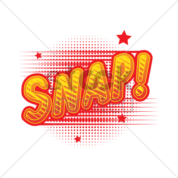 comic bubble snap vector graphic
