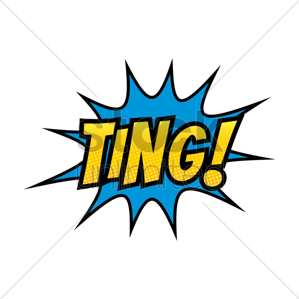 comic bubble ting vector graphic