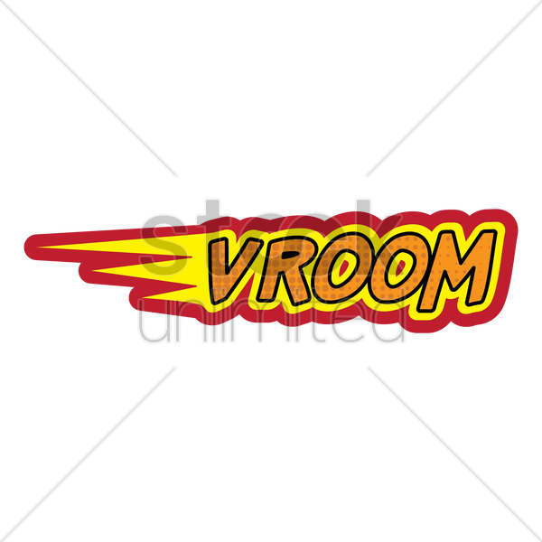 comic bubble vroom vector graphic